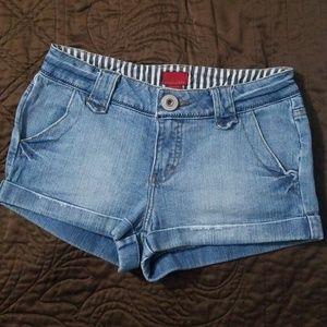 Forever 21 Jean Denim Cuffed Shorts